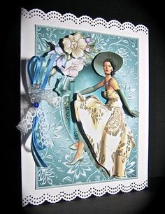 Card Gallery - Beauty in cream and teal topper