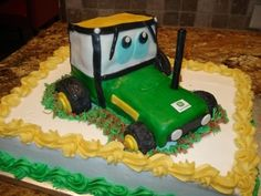 Tractor Cake - Mason's Birthday Cake By wifey on CakeCentral.com
