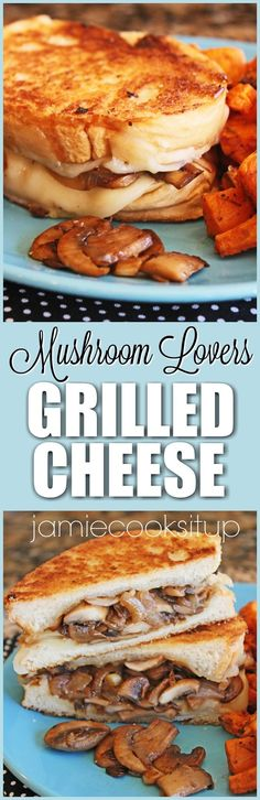 Mushroom Lovers Grilled Cheese Sandwich from Jamie Cooks It Up!