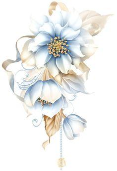 Мои закладки Art Floral, Motif Floral, Decoupage Vintage, Decoupage Paper, Flower Frame, Flower Art, Watercolor Flowers, Watercolor Paintings, Illustration Blume