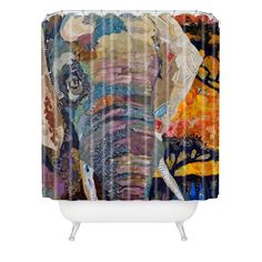 DENY Designs Elizabeth St Hilaire Nelson Elephant Shower Curtain, 69-Inch by 72-Inch DENY Designs,http://www.amazon.com/dp/B008AKP8IQ/ref=cm_sw_r_pi_dp_VKz-sb02MRHB3481