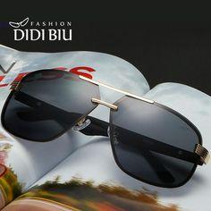 926d757d34 FuzWeb:DIDI Polarized Aviator Sunglasses Men Rimless Frame For Myopia  Original Eyewear Flat Top Logo