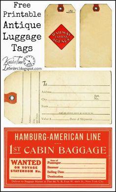 free printable antique style gift tags for holiday season, home decor, seasonal holiday decor