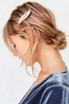 Feathered Hair Clip - Urban Outfitters