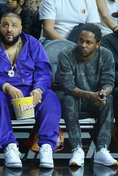 Kendrick Lamar wearing  Reebok Classic Leather Trainer, NSF Clothing Floral Sweatshirt, NSF Clothing Floral Sweatpants