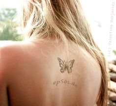 neck butterfly tattoo designs for women