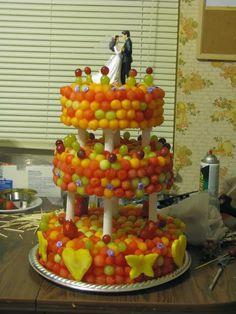 DIY Fresh Fruit Three Tier Wedding Cake - The Idea King