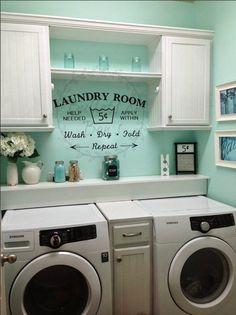 Paint Your Laundry Room Storage Shelves Ideas Laundry room decor Small laundry room organization Laundry closet ideas Laundry room storage Stackable washer dryer laundry room Small laundry room makeover A Budget Sink Load Clothes Shabby Chic Laundry Room, Room Makeover, Room Design, Laundry Mud Room, Room Organization, Remodel, Home Remodeling, Room Remodeling, Laundry Room Remodel