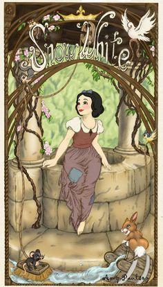 Cinderella in Art Nouveau - Disney Princess Fan Art - Fanpop fanclubs Disney Pixar, Walt Disney, Disney Fan Art, Disney And Dreamworks, Disney Animation, Disney Love, Disney Magic, Punk Disney, Disney Facts