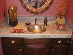 Tiled counter top border