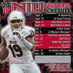 2016 NIU Football Schedule - Northern Illinois University Huskies - DeKalb, IL