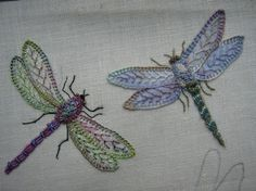 Dragonfly embroidery