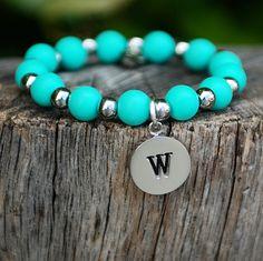 Erin Initial Turquoise (A-Z) – Rustic Cuff