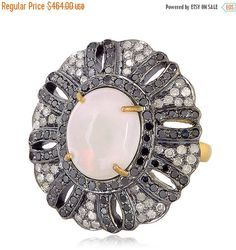 Opal Ring Fashion Jewelry,Opal Gemstone Natural Diamond Pave Studded Designer Ring, Handmade Ring,  925 Sterling Silver Fashion Ring Jewelry by fashiondiamondjewels on Etsy https://www.etsy.com/il-en/listing/399552691/opal-ring-fashion-jewelryopal-gemstone