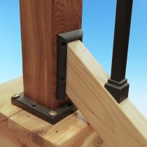 2x6 Rail Connector By Deckorators Stair Handrail Brackets Deck Balusters Glass Balusters