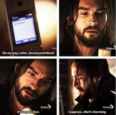 Ichabod Crane vs. Technology. Sleepy Hollow.