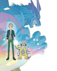Digimon Adventure Tri, Cool Anime Guys, Anime Love, Digimon Wallpaper, Digimon Tamers, Digimon Digital Monsters, Kid N Teenagers, Galaxy Art, Anime Figures