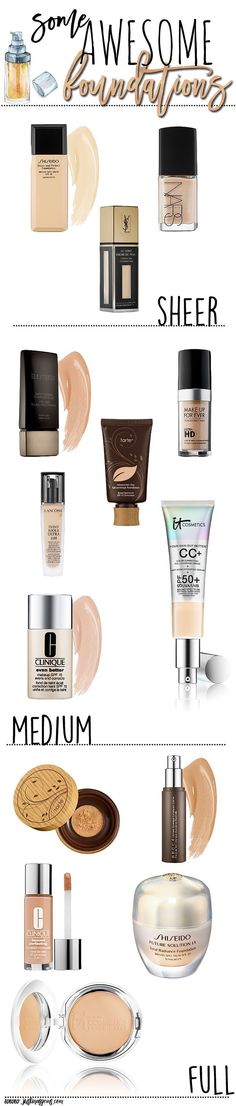 Some of my favorite foundations from top brands are sheer, medium, and full coverage. These are my picks for fair, dry skin. (Best Blush For Fair Skin) All Things Beauty, Beauty Make Up, My Beauty, Beauty Hacks, Beauty Tips, Girly Things, Hair Beauty, Airbrush Makeup, Skin Makeup