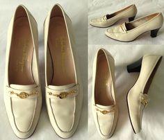 SALVATORE FERRAGAMO BOUTIQUE Leather High Heel Loafers Shoes Women Ladies UK 6.5 13.00