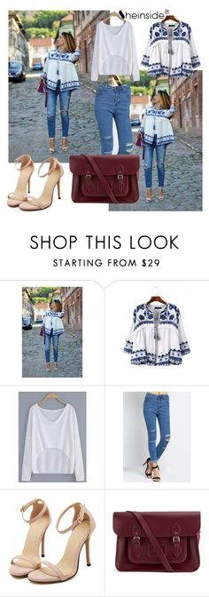 """Sheinside 6/III"" by aneela-57 ❤ liked on Polyvore featuring The Cambridge Satchel Company"