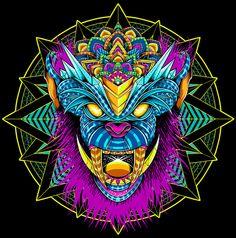 Monkey Demon Ilustration by Pale Horse, via Behance