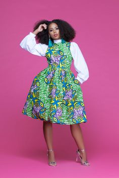 a94e171ea African Print Salima Midi Dress| Grass-Fields| Make a statement in the  office