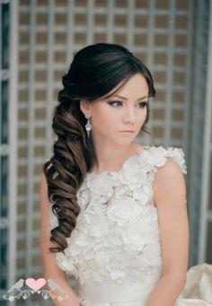 Beautiful hair for wedding