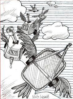 sketch for U.V. 9 x 7ft Banner (1991)  Rave Scene  https://www.facebook.com/humbleart.co.uk/