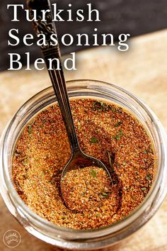 This Turkish seasoning blend is so aromatic and flavorful, use it on chicken, steak, shrimp or pork. Homemade Spice Blends, Homemade Spices, Homemade Seasonings, Spice Rub, Spice Mixes, Rub Recipes, Cooking Recipes, Turkish Spices, Turkish Recipes