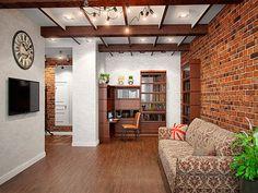Гостиная - Интерьер трехкомнатной квартиры в стиле Лофт для пары с ребенком, 100 кв.м.