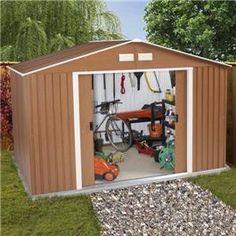 billyoh sherwood premium metal garden shed maintenance free steel sheds clad in stunning
