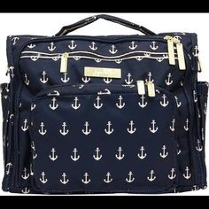 Jujube bff nautical The Admiral bag anchors diaper Perfect condition. Use only a few times. Bag is too big for my needs.  Has all straps to turn it into a backpack. Jujube Bags Baby Bags