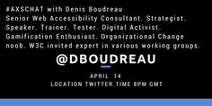 This week on #axschat our guest is @dboudreau.@axschat Tuesday 8pm London - 9pm Berlin - 3pm New York - 4pm Sao Paulo
