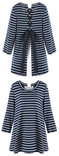 Best Striped Knit Top to wear now.Shop this look.Free Shipping Worldwide!