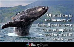 Of what use is the memory of facts, if not to serve as an example of good or of evil? - Alfred de Vigny