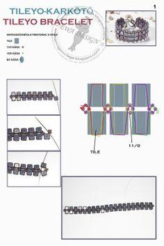Ewa gyöngyös világa!: Tileyo karkötő minta / Tileyo bracelet pattern