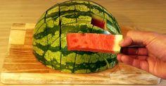 Não Perca!l Incrível: aprenda a cortar melancia, com este truque! - # #cortarmelancia