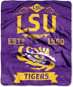 4ee5bb57 LSU Tigers Label Raschel Throw by Northwest #great#outdoor#favorite Lsu  College,