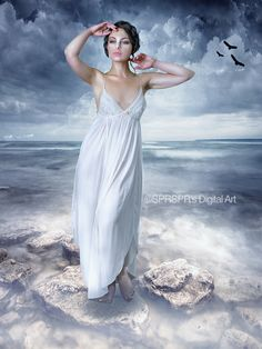 Aphrodite  Credits Background http://ashensorrow.deviantart.com/art/Premade-Background-974-184185849 Model http://lenkaltman.deviantart.com/art/STOCK-Anastasia-posing-elegantly-on-rock-296475623