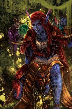 ArtStation - Zikani Bloodscalp Troll World of Warcraft, Levi Hinton
