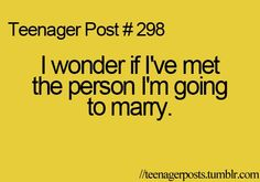 """Wondered this so many times. If I have then we'll look back and b like """"wow dang we were crazy back then"""" hahah"""