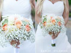 baby's breath & peach bouquet | kaylee eylander photography