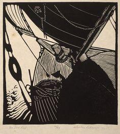 Wharton Harris Esherick. Woodcut