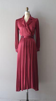 vintage 1940s dress / 40s maxi dress / Drame Nuit by DearGolden, $144.00