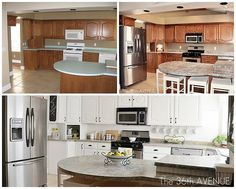 The power of paint! Check out this  White Kitchen Makeover.