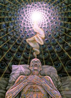 The Visionary Spiritual Art of Alex Grey. Alex Grey Paintings, Alex Gray Art, Psy Art, Art Brut, Visionary Art, Psychedelic Art, Sacred Geometry, Trippy, Cool Art