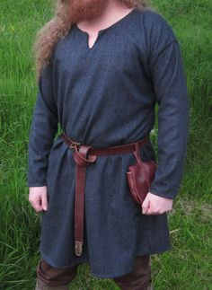 Men's Wool Viking Tunic - Custom Order. $125.00, via Etsy.