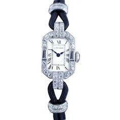 1920s Jewelry, Art Deco Jewelry, Jewellery Box, Art Deco Watch, Fancy Hands, Diamond Art, Art Deco Period, Geometric Designs, Black Enamel