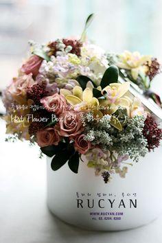 햇박스,햇플라워박스(Hat Flower Box)_[플라워스쿨,루시안]전문가반 플라워레슨 :: 네이버 블로그