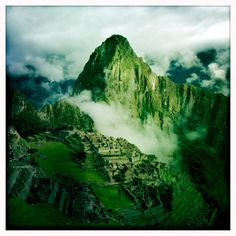 Fantastic formation of clouds at Machu Picchu.